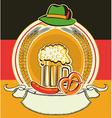 Beer label with german flag and oktoberfest vector