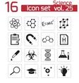 Black science icon set vector