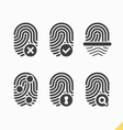 Fingerprint icons set vector