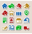 Real estate icons as labels vector