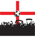 Football supporters on england flag vector