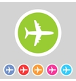 Airplane plane flat icon vector