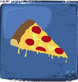 Food and drink theme pizza vector