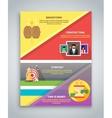 Infographic business brochure banner vector