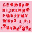Abc - english alphabet and numerals - funny cartoo vector
