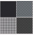 Set of four backgrounds abstract dotted and metal vector