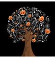 Halloween icons tree vector