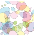 Seamless round bubbles pattern vector