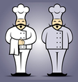 Chef cook in uniform vector