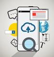 Modern smartphone interface vector
