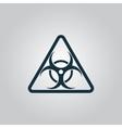 Black biohazard symbol icon isolated vector
