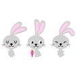 Adorable cute spring easter bunnies vector
