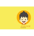 Man cartoon theme business card vector