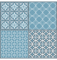 Set of four seamless geometric pattern vector