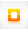 Shopping bag icon application button vector