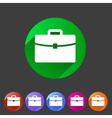 Briefcase portfolio flat icon vector