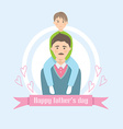 Cute card on fathers day vector