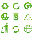 Set of recycle icon vector