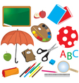 Childrens school items vector