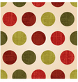 Seamless polka dots with christmas colors vector