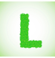 Grass letter l vector