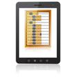 Black tablet pc computer vector