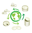 Aluminum can recycling symbol for save the world vector