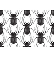 Black beetle insect seamless pattern vector