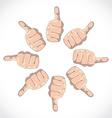 Thumbs vector