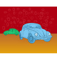 Beetle hippies car vector