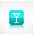 Wine glass web icon application button vector
