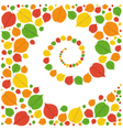 Pattern from autumn leaves vector