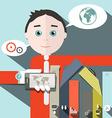 Businessman and social media - infographics vector