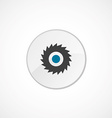 Industrial saw icon 2 colored vector