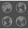 Earth globe emblem icon set vector