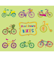 Doodle bicycles - hand drawn vector