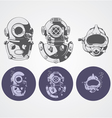 Dive helments vector
