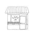 Cute street cafe vector
