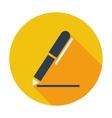 Notes single icon vector