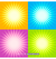 Set of sunburst backgrounds vector