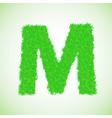 Grass letter m vector