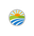 Natural landscape logo icon vector