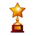 Winner golden star vector