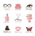 Beauty and fashion logo templates vector