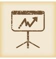 Grungy graphic presentation icon vector