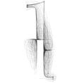 Sketch font letter l vector
