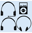 Headphones of different designs vector