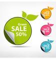Colorful sticker price tag vector