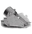 Mortar cannon vintage engraving vector