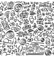 Raphip hop symbols - seamless backrond vector